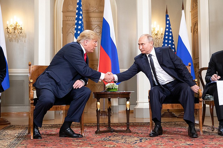 President Donald J. Trump and President Vladimir Putin of the Russian Federation on July 16, 2018. (Official White House Photo by Shealah Craighead)
