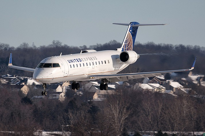 A United Express/SkyWest Bombardier CRJ 200 jet carries 50 passengers. (SkyWest Airlines/Courtesy)