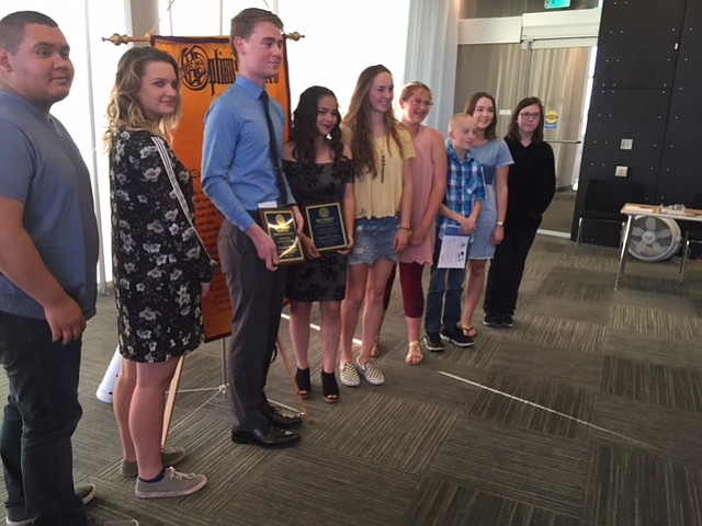 The Optimist Club of Yavapai County recognized outstanding youths from the quad-city area May 3, 2018. (Courtesy)