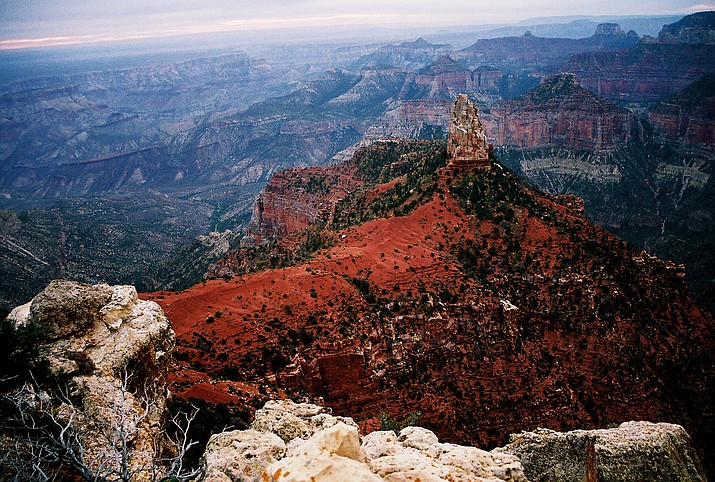 Mt. Hayden can be seen from Point Imperial on the North Rim. This is the highest overlook in Grand Canyon National Park at 8,803 feet (2,683 meters). (WGCN/File photo)