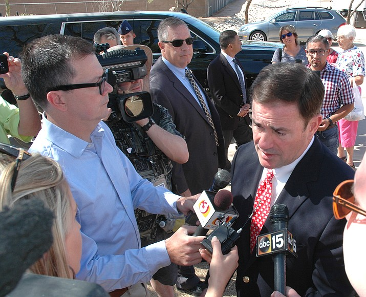 New finance report show Ducey's donations total $4.16 million. That includes another nearly $791,000 he raised in the most recent three months. (Capitol Media Services file photo by Howard Fischer)