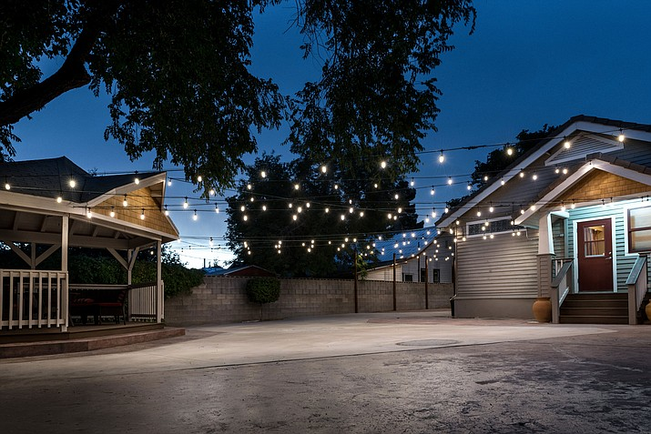 The garden area of 2nd&Oak, 132 E. Oak St. Joanne and Jason Marino are opening the space as an event venue and will host an open house 6 – 9 p.m. Saturday. (Photo courtesy Jason Marino)