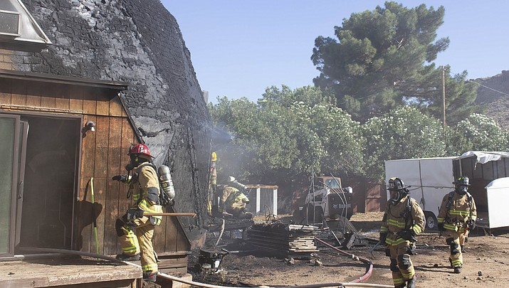 Dome-shaped home on Christy Drive catches fire