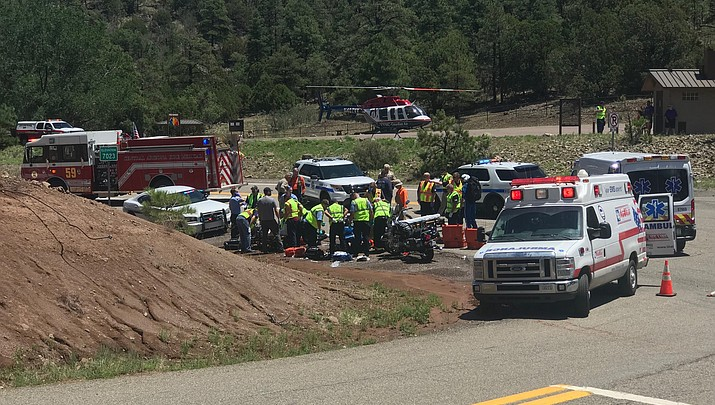Two injured in motorcycle accident on Mingus Mountain
