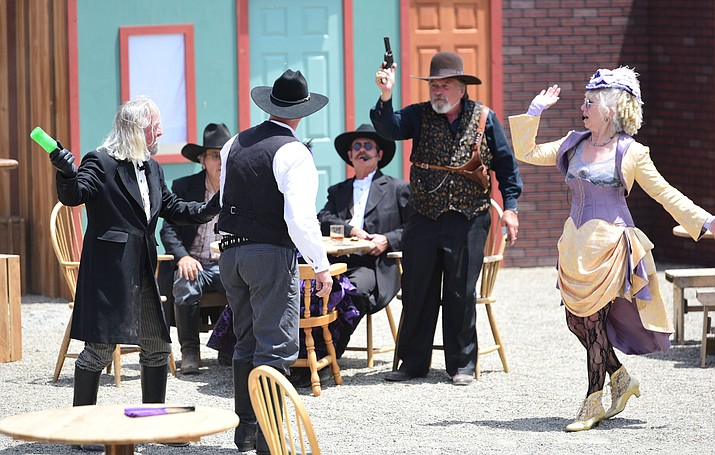 Prescott Regulators and Shady Ladies, the Whiskey Row Shootout re-enactment is set in Prescott in 1879 with characters based on real life. (Les Stukenberg/Kudos, file)