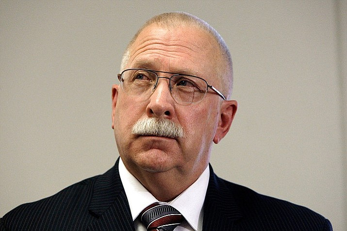 Arizona Department of Corrections Director Charles Ryan blamed a medical services contractor for a failure to follow through on promises to improve health care for inmates when the state settled a lawsuit over inmate care. Ryan is appealing a ruling that found him in civil contempt of court in the case and fined the state $1.4 million. (AP Photo/Ross D. Franklin, File)