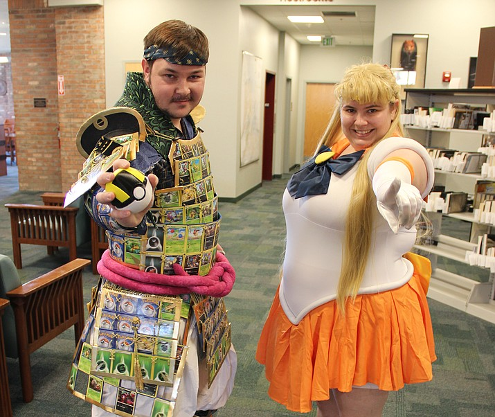Jacob Vester and Nicole Jack attended Prescott Public Library's first comic book convention Sept. 30, 2017, dressed in their favorite cosplay costumes. (Max Efrein/Courier, File)