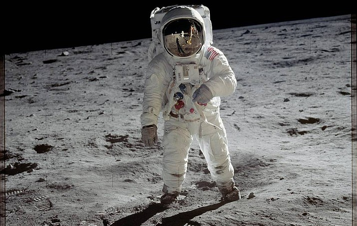 Astronaut Buzz Aldrin walks on the surface of the moon near the leg of the lunar module Eagle during the Apollo 11 mission. Mission commander Neil Armstrong took this photograph with a 70mm lunar surface camera. While astronauts Armstrong and Aldrin explored the Sea of Tranquility region of the moon, astronaut Michael Collins remained with the command and service modules in lunar orbit. (Image Credit: NASA)