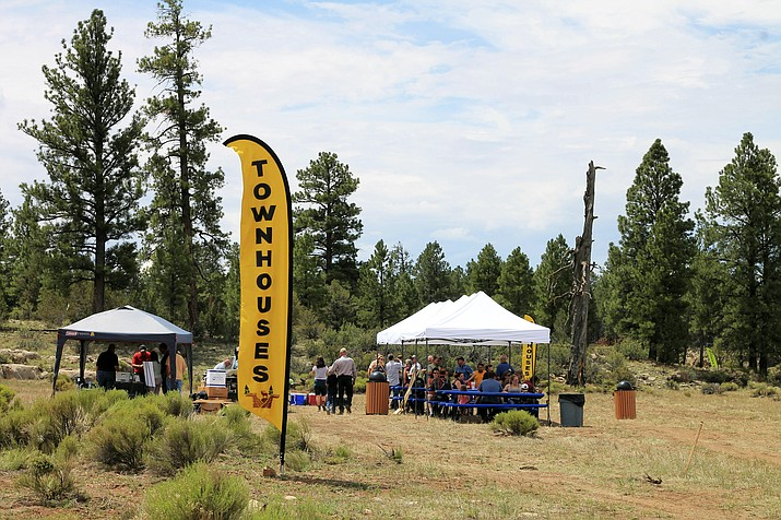 Tusayan residents gathered for the official kick-off to the Ten X Ranch housing development project July 21. The development is located approximately 3.5 miles outside of the gateway community of Tusayan outside of Grand Canyon National Park. (Loretta Yerian/WGCN)