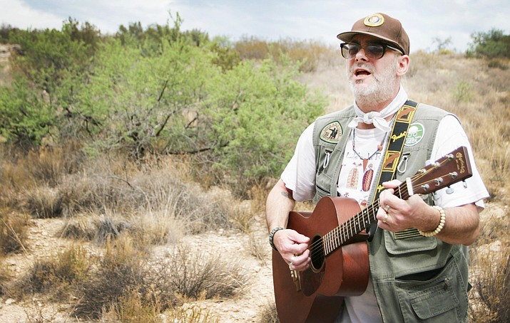 Beginning at 9 a.m. Saturday, July 28, David 'Monk' Portolano will make a spoken word performance of poetry at Montezuma Castle National Park. Portolano, a Prescott Valley resident, is the park's first Artist-in-Residence. VVN/Bill Helm