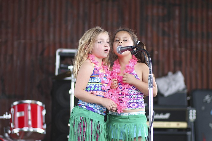 Ella Oszust and Kaia Barrett won first place at the Williams Summer Rec Talent Show with their rendition of 'How Far I'll Go' featured in the hit movie Moana. (Loretta Yerian/WGCN)