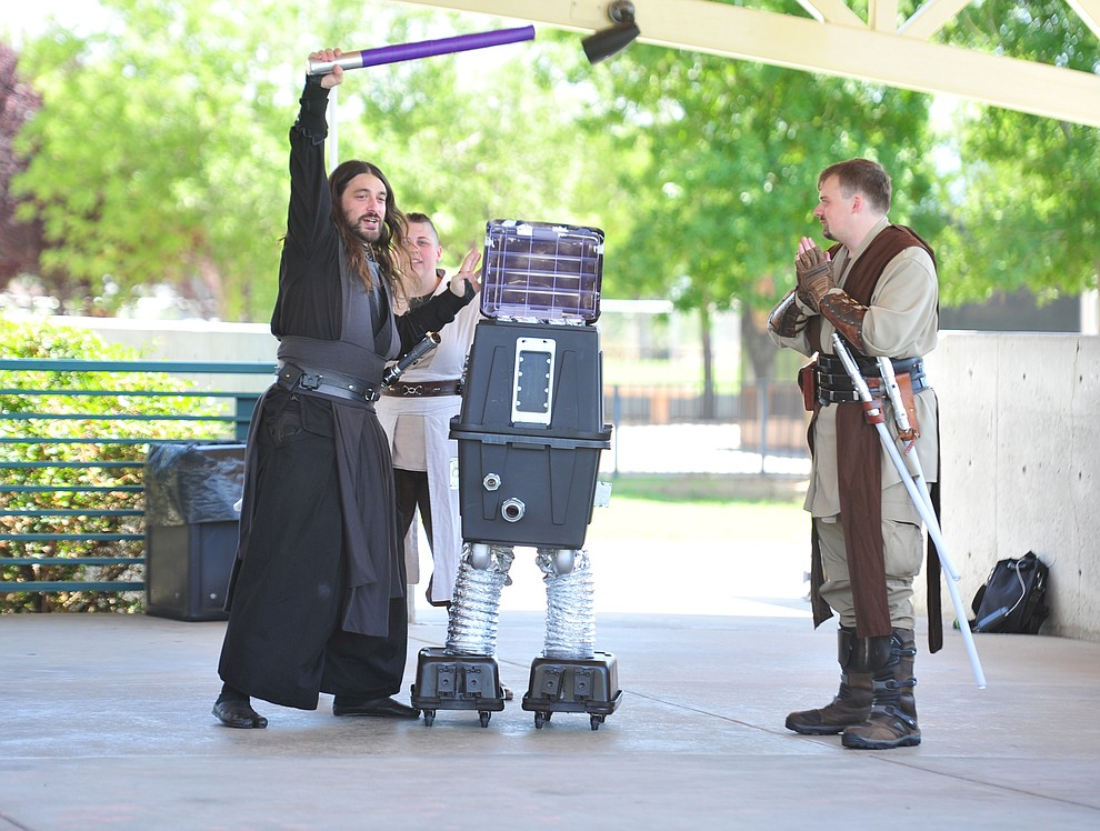 Syndicate Saber United perform at the Fandomania Comic Con event Saturday, July 28, 2018 in and around the Prescott Valley Library. (Les Stukenberg/Courier)