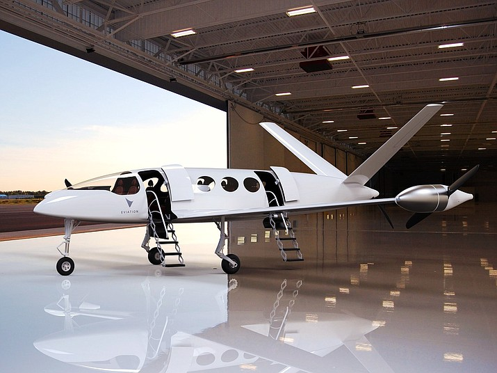 "Eviation Aircraft plans to build and market the all-electric powered ""Alice"" commuter airplane in the next year. The company has chosen Prescott as its U.S. base of operations. (Courtesy photo)"