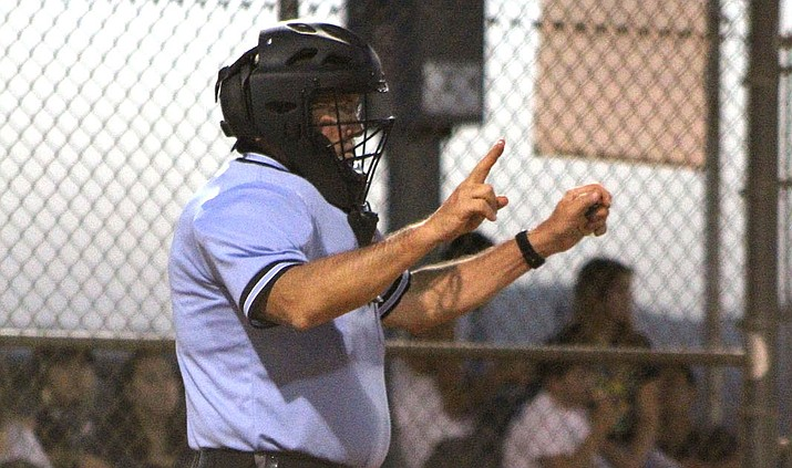 Kingman's Larry Carver will don his umpire gear next month during the Little League West Regionals. (Miner File Photo)