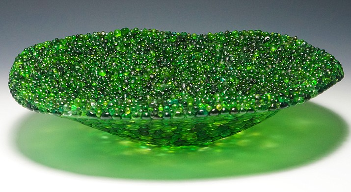 Green Frit Bowl by Pilisa Rainbow Lady. Courtesy photo