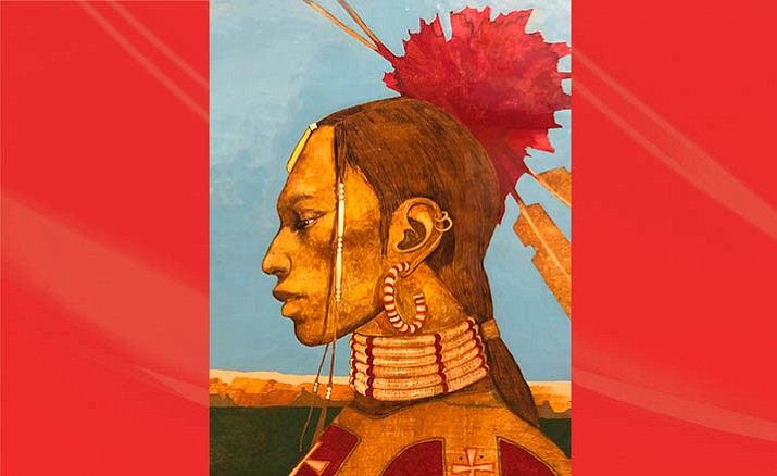 Ben Wright's paintings honor Native American traditions portraying a depth of emotion and sense of wisdom. Courtesy photo/Goldenstein Gallery