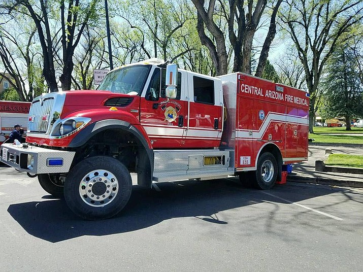 The Central Arizona Fire and Medical Authority has deployed two type 3 fire engines to assist with wildland fires in California. Each engine is staffed with four wildland team personnel.