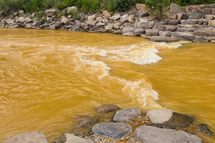 Smelter Rapid in Durango, Colorado after the river was found to be fouled by the EPA mine waste spill in Silverton. (Adobe Stock)