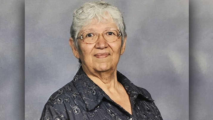 Dolores Paredes was recognized for more than 20 years of serving the Williams' community through the Williams Senior Nutrition Program. (Submitted photo)