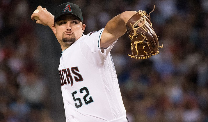 Zack Godley allowed only two hits and matched a career high with 10 strikeouts Tuesday against the Texas Rangers. (File photo courtesy of Sarah Sachs/Arizona Diamondbacks)