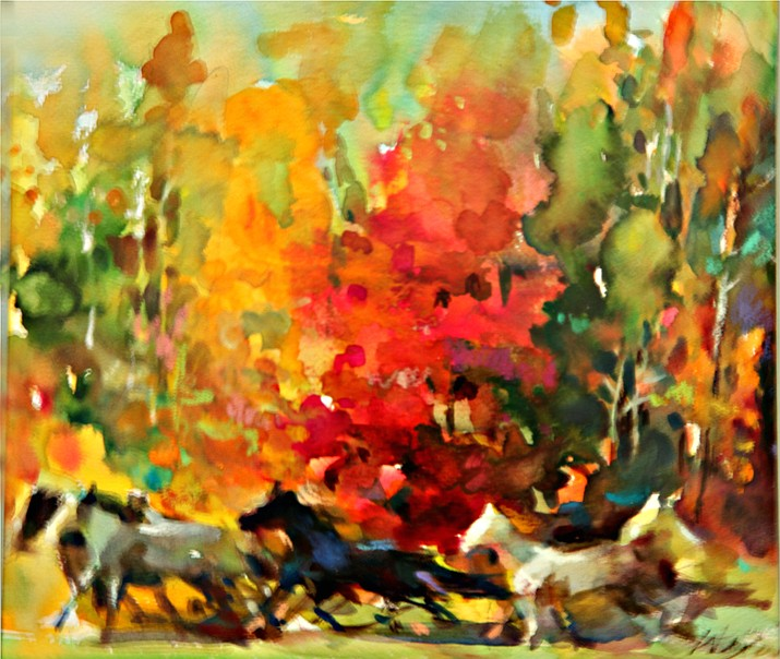 Autumn by Wei Tai, Watercolor. (Edd Kellerman/Courtesy)