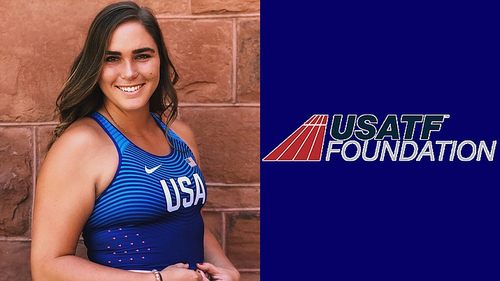 Former NAU All-American Brooke Andersen earned an elite athlete grant from the USA Track and Field Foundation. Photo courtesy NAU