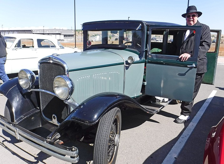 Harry Sheldon Bates stands next to his 1929 DeSoto. Bates died in a fatal vehicle crash along I-17 Friday, July 27. He was the president of the Prescott Antique Auto Club, which is hosting its annual show at Watson Lake Saturday and Sunday, Aug. 4-5.
