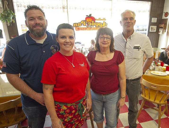 Mark and Sueann Duncan, at right, recently sold their restaurant Sueann's Apple Pan to Mark and Angela Koehler. The Duncan's plan on doing a lot of traveling in their rv in the near future. (Les Stukenberg/Courier)