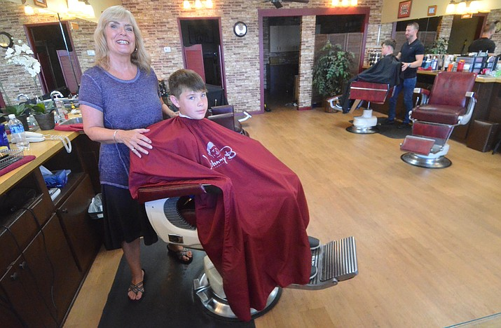 Nancy Griggsby, the owner of Central Barber is celebrating the business's 40th anniversary in Cottonwood. VVN/Vyto Starinskas