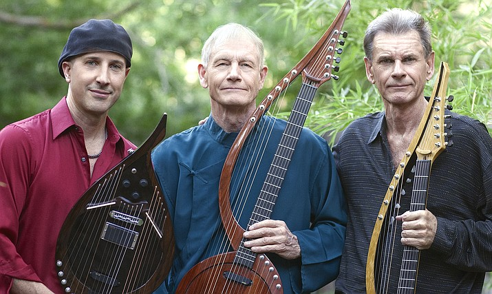 "Visionary guitarists William Eaton, Anthony Mazzella, and Fitzhugh Jenkins join forces as the ""Electric Harp Guitar Group"" (EHGG) to perform a concert on their unique electric harp guitars on Saturday, August 11 at 7 p.m. at the Mary Fisher Theatre."