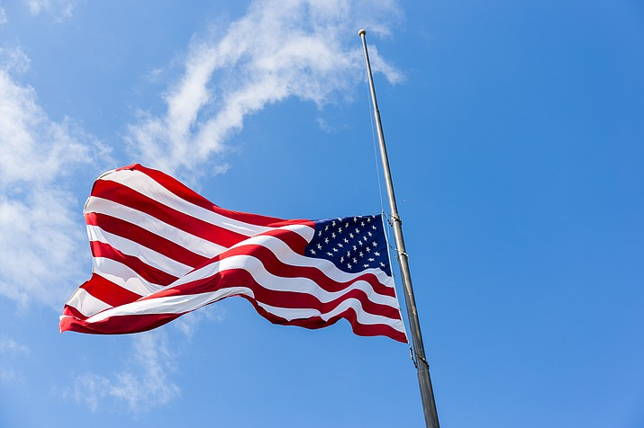 Gov. Doug Ducey has ordered that flags at all state buildings be lowered to half-staff from sunrise to sunset.