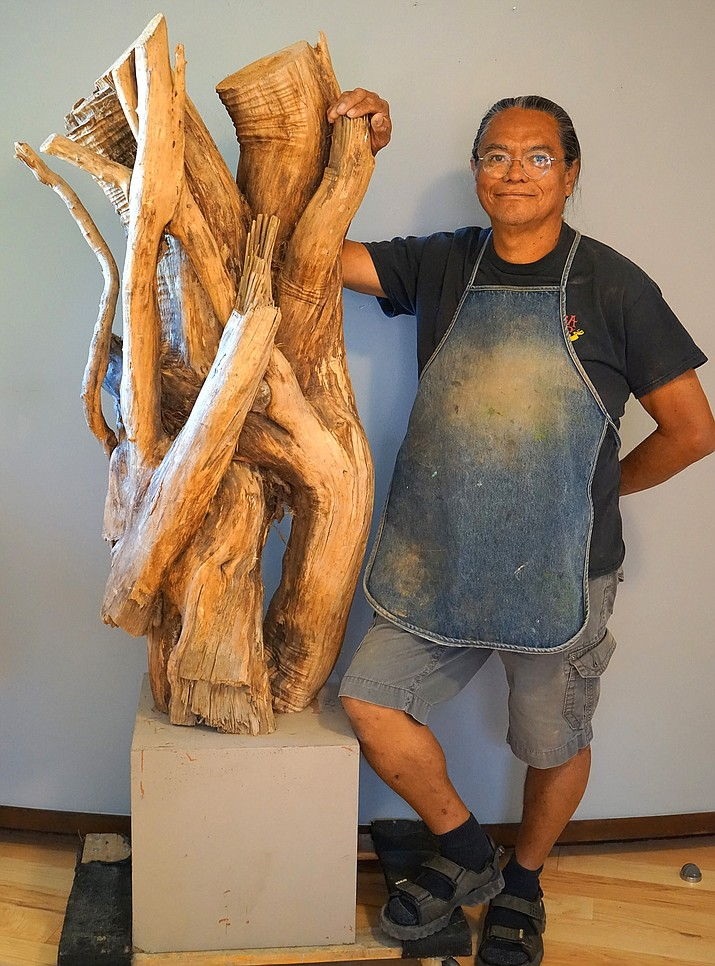 "This August, Creative Gateways celebrates Gerry Quotskuyva in his new exhibit ""The Gnarly Root Project - the Journey of a Wooden Spirit."" Join him for the opening reception, Friday, August 10th, from 5-8 p.m., at Creative Gateways."