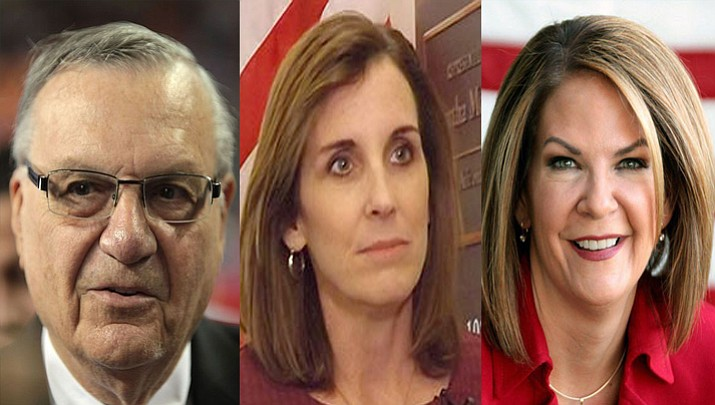 Joe Arpaio, Rep. Martha McSally and Kelli Ward