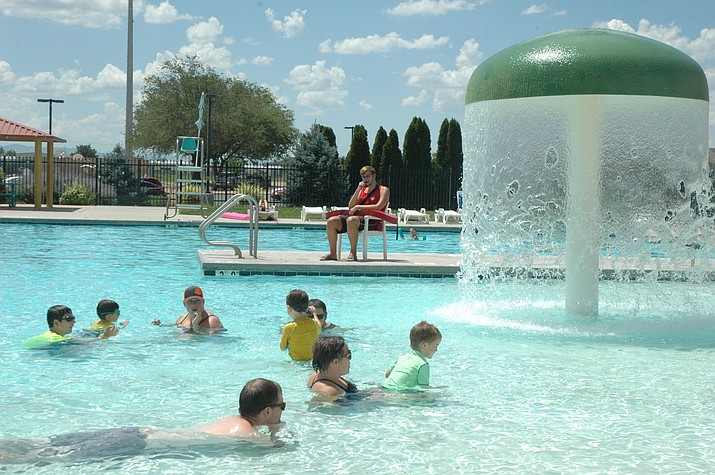 Families enjoying the last days of the Chino Valley Aquatic Center's 2018 season Saturday, Aug. 4. The final day of the season is Sunday, Aug. 12. (Jason Wheeler/Review)