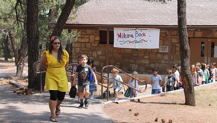Grand Canyon School: Students return to class
