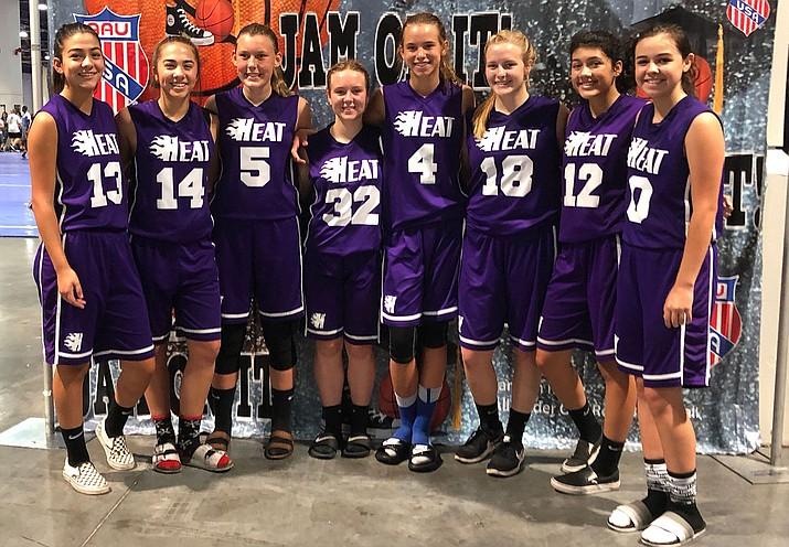 Pictured from left, Savannah Jimenez, Becca Ramirez, Becca Arave, LaNae Burgess, Lynsey Day, Kaitlin Echeverria, Amya Sellars and Lia Lucero. (Courtesy)