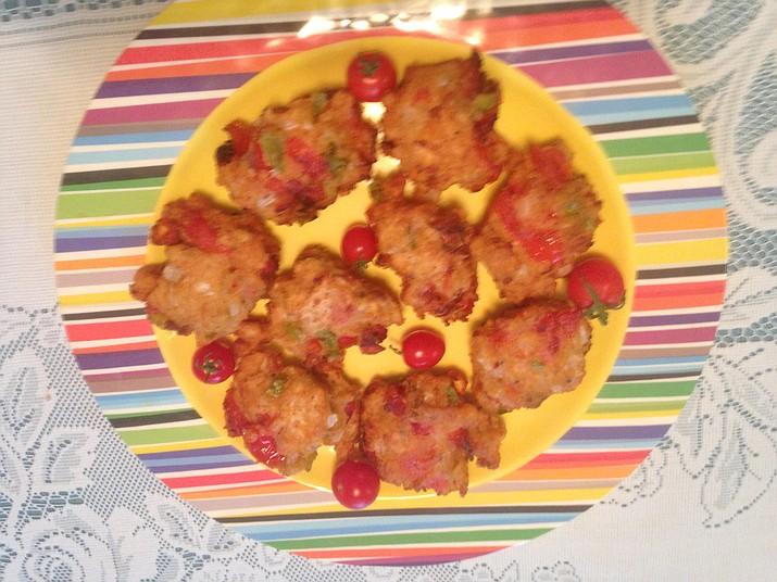 Tomato fritters. (Diane DeHamer/Courtesy)