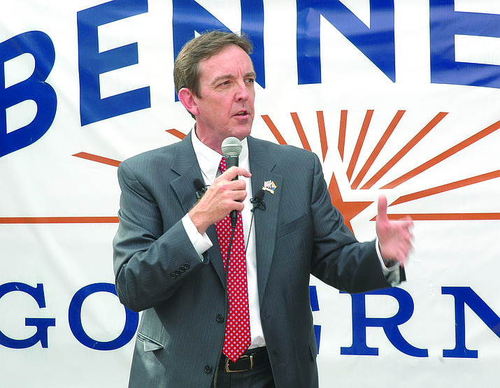 Gubernatorial challenger Ken Bennett says that, as Senate president, he put together a budget that cut individual income tax rates by 10 percent. Bennett says he left office at the end of 2006, insisting Napolitano, who stayed on, inflated the budget in the following two years, before she quit to take a job in the Obama administration.