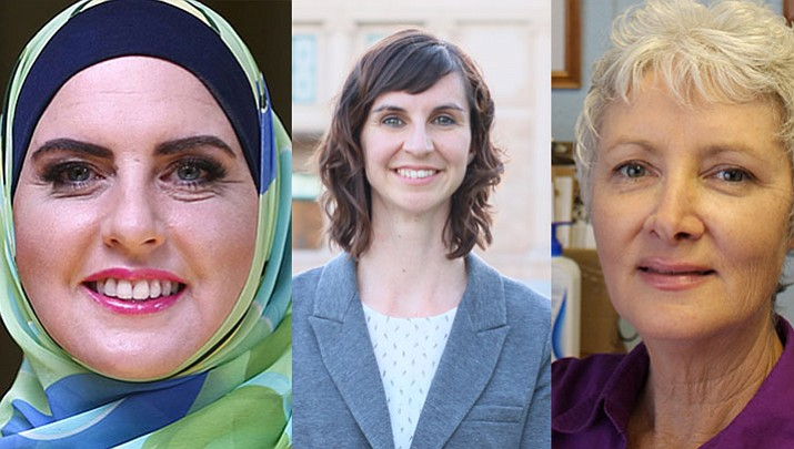 Deedra Abboud, Kathy Hoffman, and J'aime Morgaine are three out of the five Democratic candidates that will be at the Democratic forum Saturday.