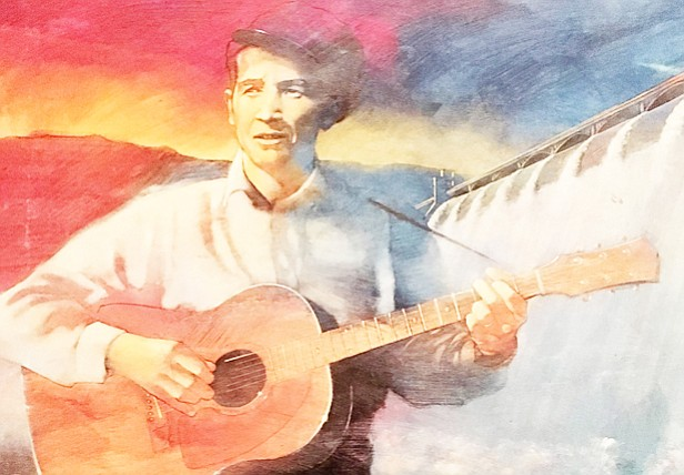 A painting of Woody Guthrie. (Tom Agostino/Courtesy)