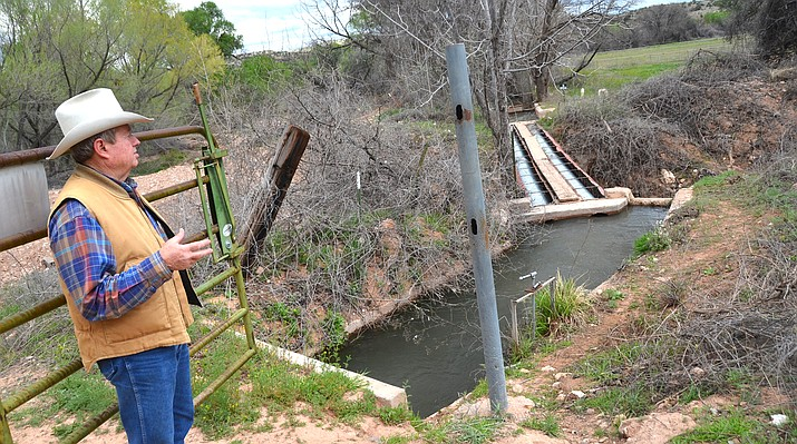 Some of the most senior water rights in the Verde Valley are held by the various irrigation ditch companies that use water from the Verde River and Oak Creek. Above and below right is Cottonwood's Andy Groseta, who represents the Cottonwood Ditch Association. VVN/Vyto Starinskas