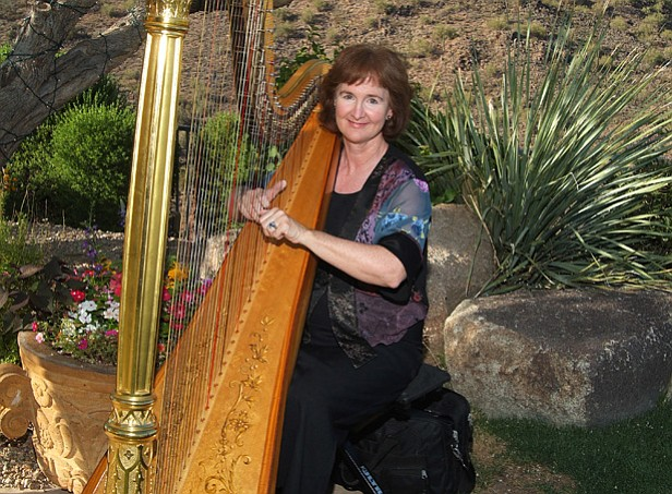 "Adrienne Bridgewater, harpist and actors, Dale and Glenna Hudson, will explore the question of the significance of the ""dog days"" to music, prose, poetry and history. ""Music and Poetry for the Dog Days of Summer"" is the focus of the 11 a.m. service at Prescott Unitarian Universalist Fellowship at 945 Rancho Vista Drive, Prescott. (Courtesy)"