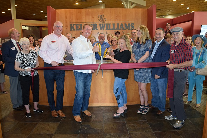 The ribbon-cutting ceremony at Keller Williams Realty. (Prescott Chamber of Commerce/Courtesy)