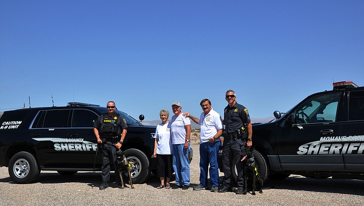 Kingman Photo   Donating to Mohave County Sheriff's K-9 Foundation
