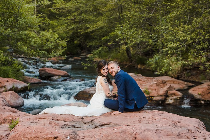 Anya Stryker married Joshua Herron at L'auberge De Sedona in Sedona.