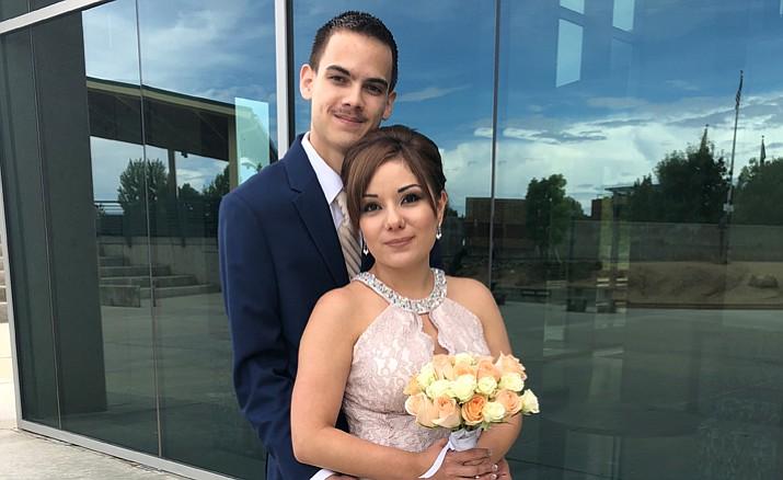 Yesenia Flores married Daniel Felipe in Prescott Valley.