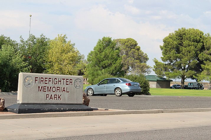 A video was posted on Facebook about an apparently intoxicated man loitering around the restroom and drinking fountain at Firefighter Memorial Park on Aug. 6. The man was not arrested and was told by police to leave the park, which he did. (Hubble Ray Smith/Daily Miner)