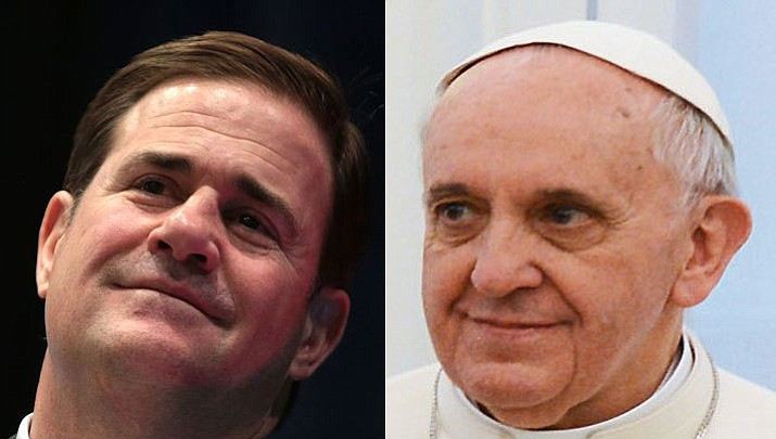 Gov. Doug Ducey and Pope Francis