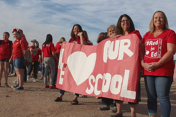 Arizona lawmakers passed a budget that authorized a 20 percent teacher pay increase over three years but fell short of demands for more overall funding for public schools. (Daily Miner file photo)