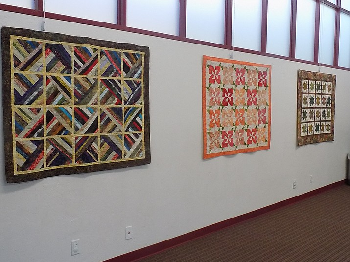 Quilts made by the Chino Valley Quilters for the Chino Valley Public Library's Community Room. The cost for the quilts was paid for by the Friends of the Chino Valley Public Library. (Darlene Westcott/Courtesy)
